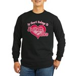 Emmett Cullen Heart Long Sleeve Dark T-Shirt