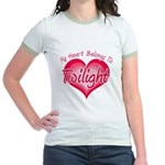 Heart Belongs Twilight Jr. Ringer T-Shirt