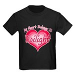 Heart Belongs Twilight Kids Dark T-Shirt