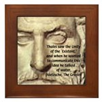 Greek Philosophy: Thales Framed Tile