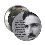 "Nikola Tesla 2.25"" Button (100 pack)"