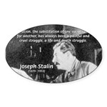 Joseph Stalin Revolution Oval Sticker