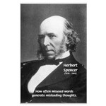 Evolutionist Herbert Spencer Large Poster