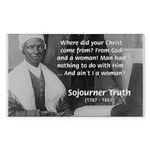 Lincoln with Sojourner Truth Rectangle Sticker