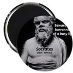 """Socrates: Wisdom from Leisure 2.25"""" Magnet (10 pac"""