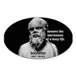 Socrates: Wisdom from Leisure Oval Sticker