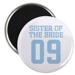 "Sister of Bride 09 2.25"" Magnet (100 pack)"