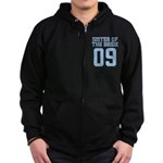 Sister of Bride 09 Zip Hoodie (dark)