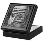 Playwright William Shakespeare Keepsake Box
