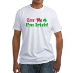 Bite Me I'm Irish Fitted T-Shirt
