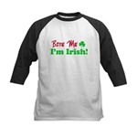 Bite Me I'm Irish Kids Baseball Jersey