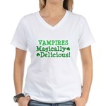 Vampires Magically Delicious Women's V-Neck T-Shir