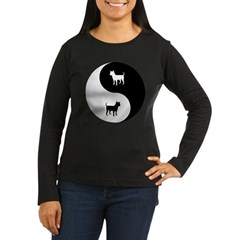 Yin Yang Chihuahua Women's Long Sleeve Dark T-Shir