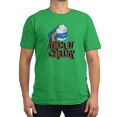 Milk is Chillin' Mens Fitted Dark T-Shirt