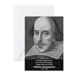 William Shakespeare Greeting Cards (Pk of 10)