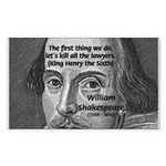William Shakespeare Rectangle Sticker