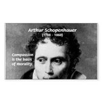Arthur Schopenhauer Truth Rectangle Sticker