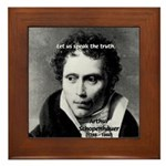 Schopenhauer Philosophy Truth Framed Tile