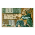 Saint Augustine of Hippo Rectangle Sticker