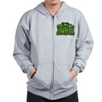 Kiss Me I'm Single Shamrock Zip Hoodie