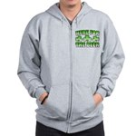 Here for the Beer Shamrock Zip Hoodie