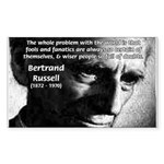Philosopher Bertrand Russell Rectangle Sticker