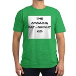 Amazing Fat Skinny Men's Fitted T-Shirt (dark)
