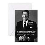 American President Reagan Greeting Cards (Package