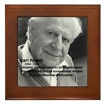 Philosophy Karl Popper Framed Tile