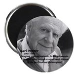 "Philosophy Karl Popper 2.25"" Magnet (100 pack)"