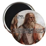 """Music and Plato 2.25"""" Magnet (10 pack)"""