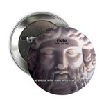 "Plato: Humour Beer Wisdom 2.25"" Button (10 pack)"