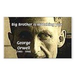 Orwell Big Brother 1984 Rectangle Sticker