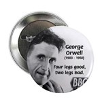Modern Fable Writer Orwell Button