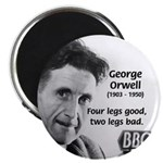 Modern Fable Writer Orwell Magnet