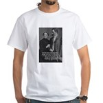 Man and Woman: Nietzsche White T-Shirt
