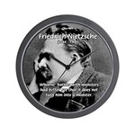 Christian Morality / Nietzsche Wall Clock