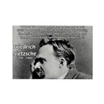 Vanity God and Nietzsche Rectangle Magnet
