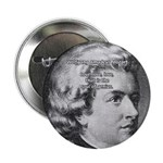 "Music, Genius and Mozart 2.25"" Button (100 pack)"