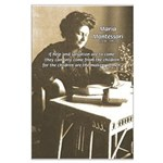 Maria Montessori Education Large Poster