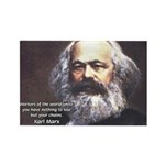 Union of Workers: Marx Rectangle Magnet (100 pack)