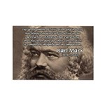 Civilization and Marx Rectangle Magnet