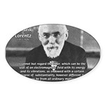 Nobel Prize Physics Lorentz Oval Sticker
