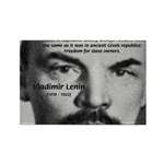 Capitalism and Lenin Rectangle Magnet (100 pack)