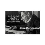 Truth Existentialist Kierkegaard Rectangle Magnet