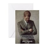 Man / War John F. Kennedy Greeting Cards (Package