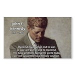 Man / War John F. Kennedy Rectangle Sticker