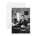 Humanist John F. Kennedy Greeting Cards (Package o