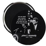 "Famous Quote from JFK 2.25"" Magnet (100 pack)"