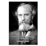 William James Life and Change Large Poster